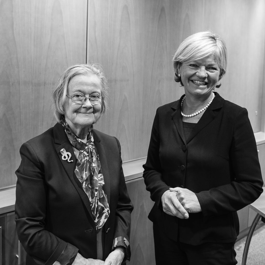 Margaret Simpson with Lady Hale at Resolution Tees Valley event